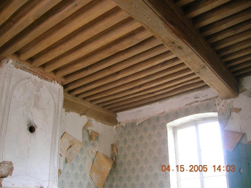 aerogommage plafond à la française