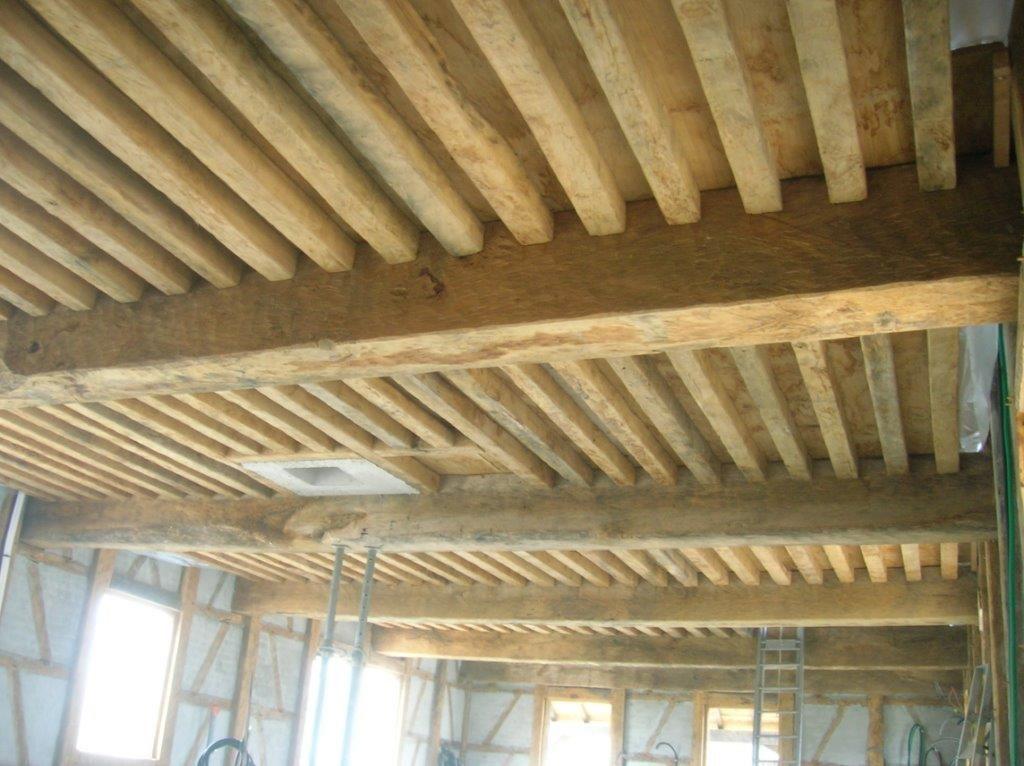 sablage plafond à la francaise